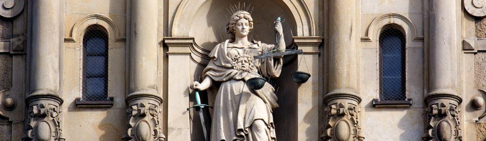 Vrouwe justitia als beeld